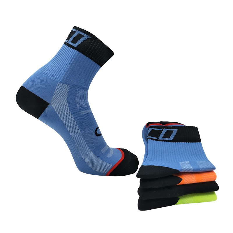 New Men Women Cycling Socks High Elasticity Printing Outdoor Sport Socks Quick Dry Road Bicycle Riding Bike Socks