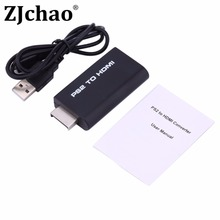 Premium version PS2 to HDMI  Ypbpr Input PS2 HDMI Video Converter Adapter with 3.5mm AUX Audio Output for HDTV