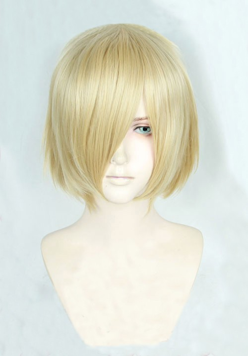 Anime Yuri!!! On Ice Yuri Plisetsky Yurio Short Blonde Heat Resistant Cosplay Costume Wig