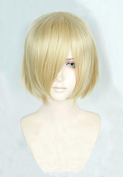 Anime Yuri!!! On Ice Yuri Plisetsky Yurio Short Blonde Heat Resistant Cosplay Costume Wig