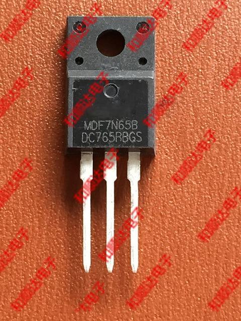 Free shipping 10pcs/lot MDF7N65B TO-220F 650V 7A new original