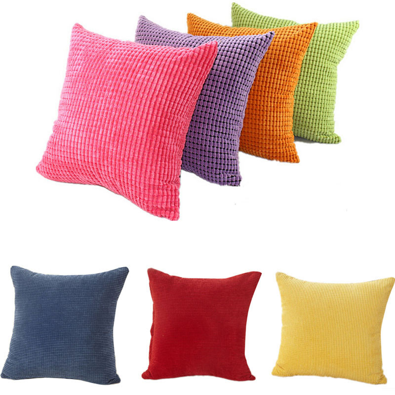 3d stripe corduroy cushion cover red nordic pillow cover soft home decorative pillows case brand pillow