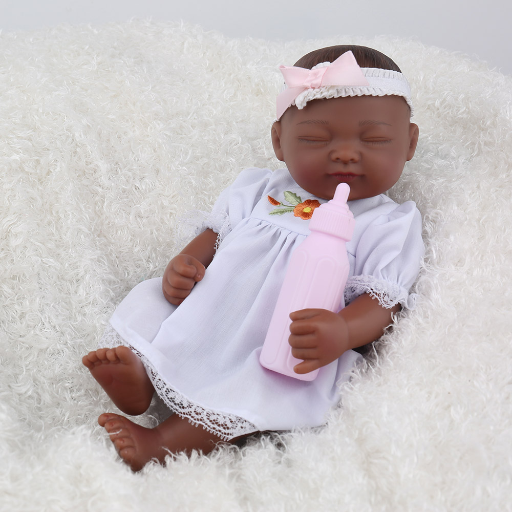 Brilliant Mini Doll African American Black Reborn Baby Girl Cute Full Vinyl Schematic Wiring Diagrams Amerangerunnerswayorg