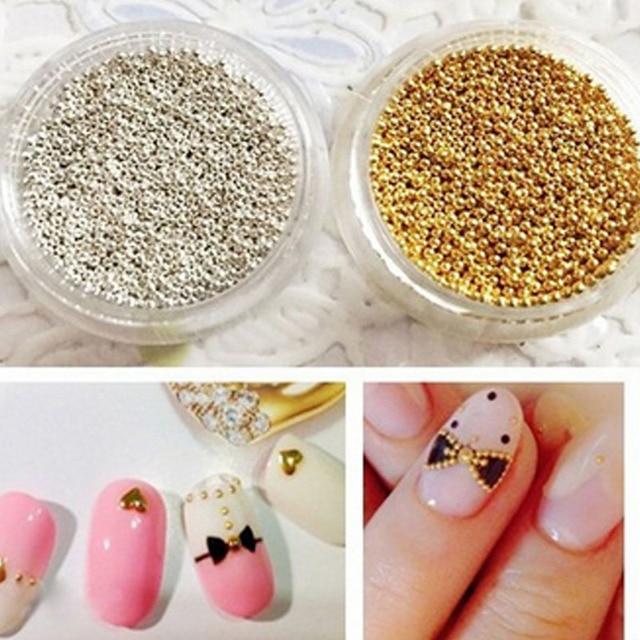 Para uñas granos 1mm 3D espárragos aleación 3D clavo joyas encantos ...