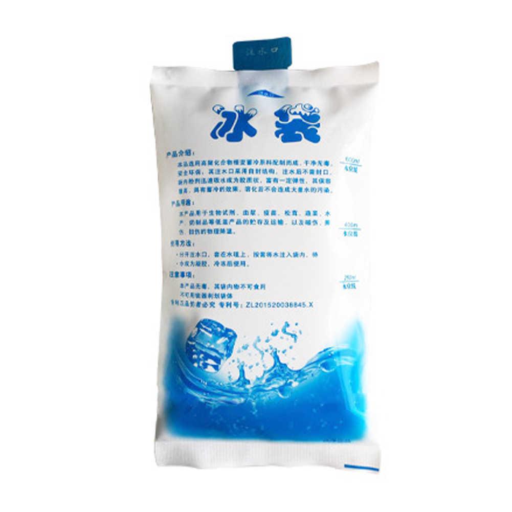 Bloco de Gelo reutilizáveis Gel Hot Cold Pack, Pacotes de Gel de Gelo Saco Térmico De Armazenamento De Alimentos Caixa de Almoço para Latas de Alimentos, 100 ML, 200 ML, 400 ML, 600 ML (100 ML)