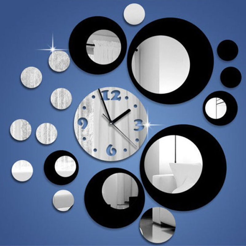 Free Shipping 2016 New Arrival 3d <font><b>Home</b></font> <font><b>Decor</b></font> Quartz DIY Wall Clock Clocks Horloge Watch Living Room <font><b>Elegant</b></font> Designed Pots Style