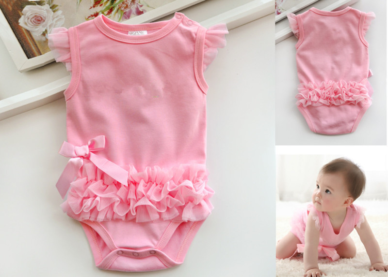 Infant Baby Girl Clothes New Ruffle Bowknot Bodysuit Outfit Body bebe Ropa de Bebe Pink Jumpsuit Clothing Newborn-Baby-Clothes