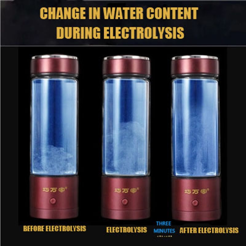 USB Hygrogen-rich Water Bottle Fast Electrolysis Hydrogen Generator Ionizer Cup Alkaline Water Maker 350ml Super Antioxidants new arrival hydrogen generator hydrogen rich water machine hydrogen generating maker water filters ionizer 2 0l 100 240v 5w hot