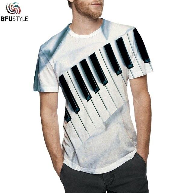 19b4f464 All Over Printed Piano 3D T Shirt T-shirts Men Women 2019 New Fashion Hip