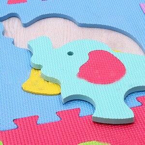Image 5 - 9 יח\סט EVA קצף תינוק לשחק מחצלת תפרים זחילה שטיח ילד Kruipen מחצלת התאסף בעלי החיים שטיח פאזל לילדים משחקים