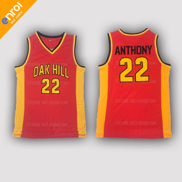 02f880af3e35 Retro Mens Cheap Carmelo Anthony 22  Basketball Jerseys Oak Hill High School  Throwback Stitched Embroidery High Quality Shirts