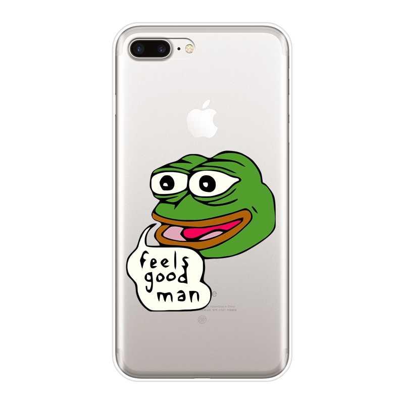 Telefon Fall Für iPhone 6 S 6 S 7 8 X XR XS Max Traurig Frosch Pepe Memes Lustige Emoji silikon Weiche Rückseitige Abdeckung Für iPhone 6 S 6 S 7 8 Plus