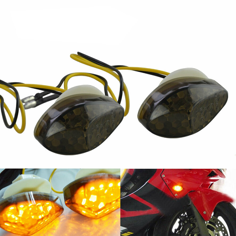 2 Pcs Motorcycle Led Turn Signal Indicator Light Lamp Bulb Universal Blinker Flashers For Honda CBR 600RR 1000RR 2004-2007 05