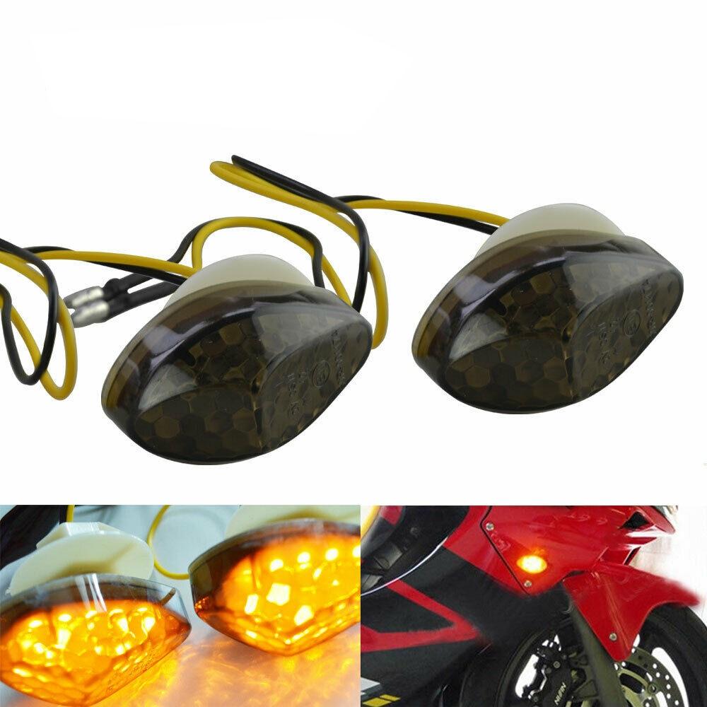 2 Pcs Motorcycle Led Turn Signal Indicator Light Lamp Bulb Universal Blinker Flashers For Honda CBR 600RR 1000RR 2004-2007 05