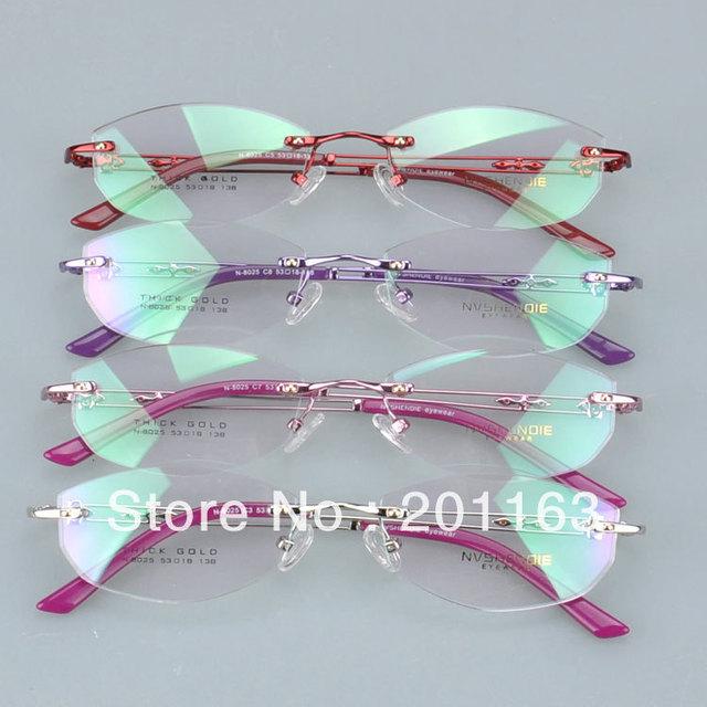 N8025 ópticos sin rebordes de metal de moda del envío libre gafas de miopía gafas anteojos
