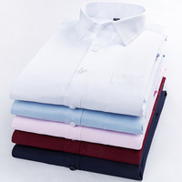 2019 Brand New Men Shirt Male No bag Shirts Men's Fashion Casual Long Sleeve Business Formal Shirt Formal camisa social