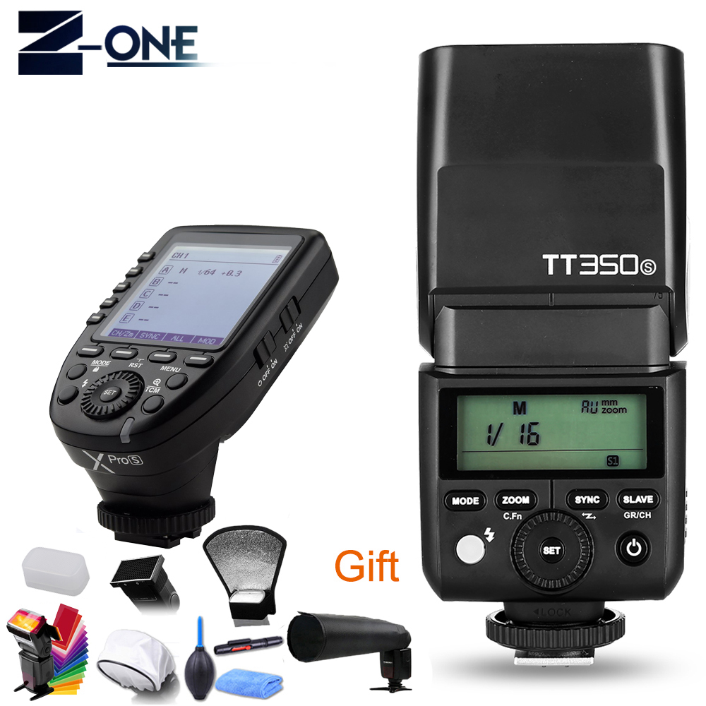 Godox TT350S TT350 GN36 2.4G TTL HSS Mini Flash Speedlite + XPro-S Flash Transmitter Trigger Kit for Sony Mirrorless Camera