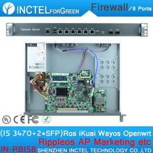 Intel Core I5 3470 CPU 1U Rack Ears Network Server Firewall with 1000M 6 82574L 2 groups Bypass 2 82580DB Fiber