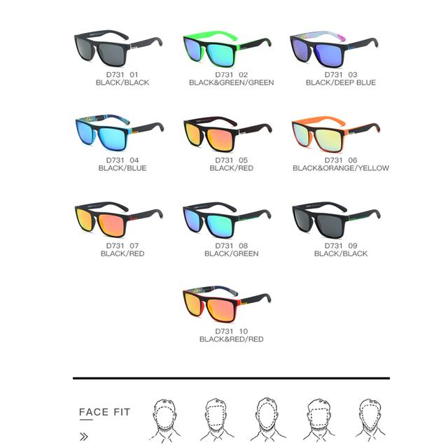 DUBERY Polarized Sunglasses Men's square Driving Shades Male Sun Glasses For Men Retro Luxury Brand Designer Oculos