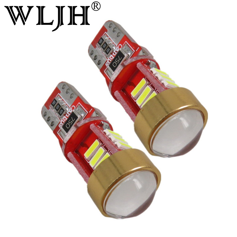 WLJH 2x Canbus T10 W5W Led Auto Lamp 12V Car Clearance Light bulbs Projector Lens for mazda 3 Axela 6 atenza cx-5 cx5 cx 5 2 m3 сувенир подвеска бабочка красавица