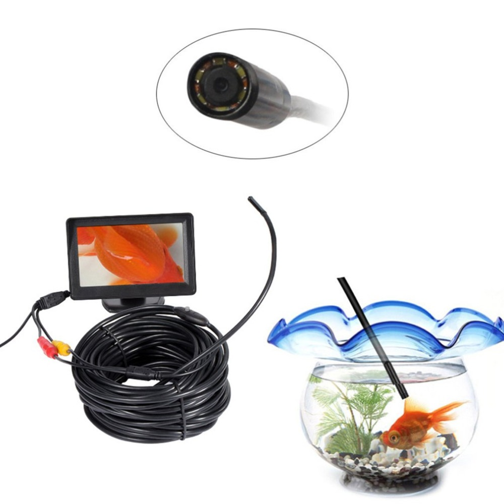 5.5mm Mini AV Waterproof Endoscope Inspection 15m Length Cable And 4.3inch 24 Bits Color TFT Color Monitor5.5mm Mini AV Waterproof Endoscope Inspection 15m Length Cable And 4.3inch 24 Bits Color TFT Color Monitor