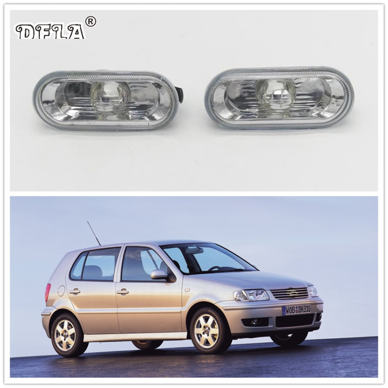 2pcs For VW Polo 2000 2001 2002 2003 2004 2005 Car-Styling Side Marker Turn Signal Light Lamp Repeater jeazea glove box light storage compartment lamp 1j0947301 1j0 947 301 for vw jetta golf bora octavia 2000 2001 2002 2003 2004