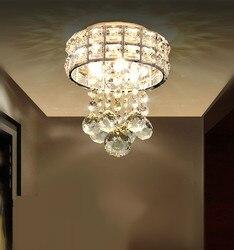 Nowoczesna lampa do korytarza LED korytarz wejście sufitowa oprawa oświetleniowa minimalistyczny okrągły kryształowy sufit lampy