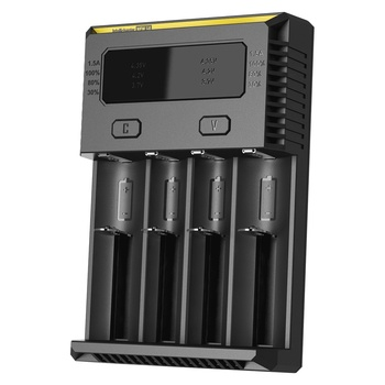 Topsale Nitecore nouvelle batterie I4 automatique courant sélectionner IntelliCharger IMR Ni-MH/ni-cd Li-ion18650 16340 10440 AAA 14500 26650