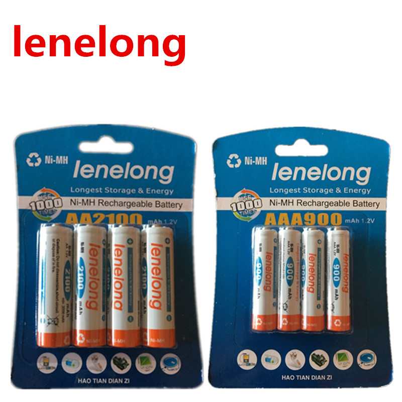 Ienelong 4pcs 1.2V 1600mAh)AA Batteries +4Pcs 600mAhAAA Batteries NI-MH AA/AAA 3A Rechargeable Battery , Toy