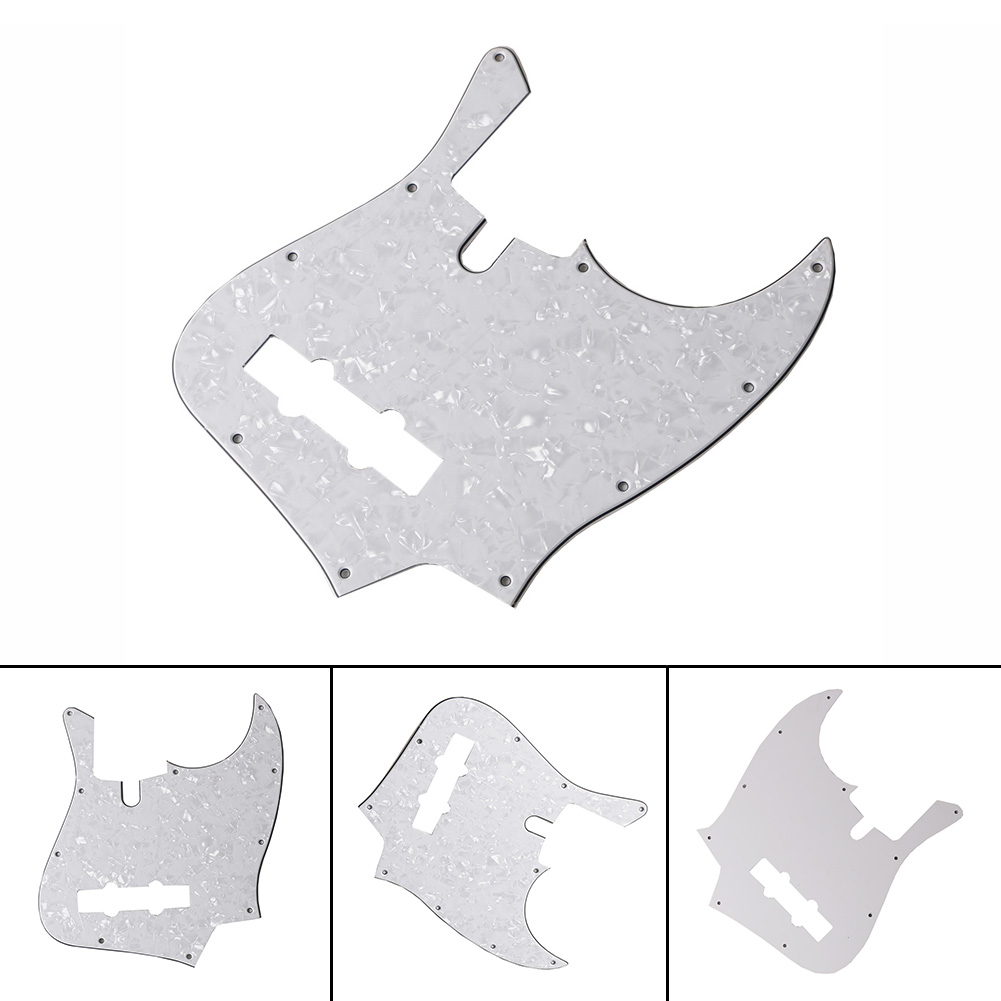 10 Holes JB Bass Pickguard Pick Guards Celluloid Tortoise Shell Plate for Standard Jazz Bass Guitar Pickguard Drop Shipping