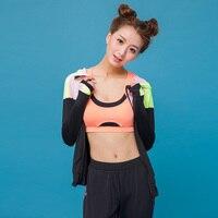 2017 High Quality Girl Fitness 3 Pieces Yoga Set T Shirts Bra Jacket Pants Gym Clothes