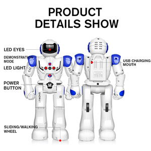 Image 2 - 2019 Newest Robot USB Charging Dancing Gesture Action Figure Toy Robot Control RC Robot Toy for Boys Children Birthday Gift