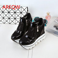 The fall of 2016 thick bottom fill mesh mesh breathable shoes stitching muffin bottom leisure Gym shoes b2