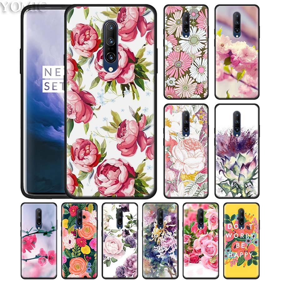 watercolor floral rose sakura Phone Case for font b Oneplus b font font b 7 b