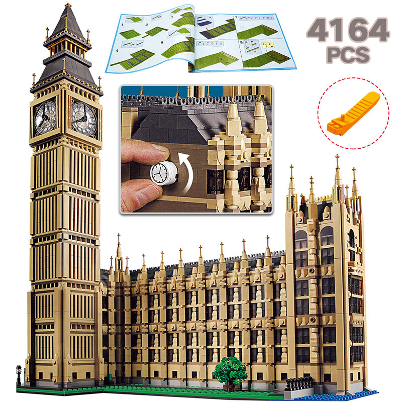 Technic City Street View Building Blocks LegoINGLY Big Ben 10253 Architecture Creator Toys For Children DIY Bricks все цены