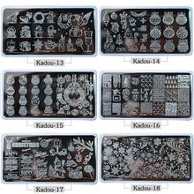 1* Nail Stamping Plates 2019 Fashion TEMPLATE Cartoon/ Flower Christmas Steel Stamp Template Polish Stencils Kadou7-22