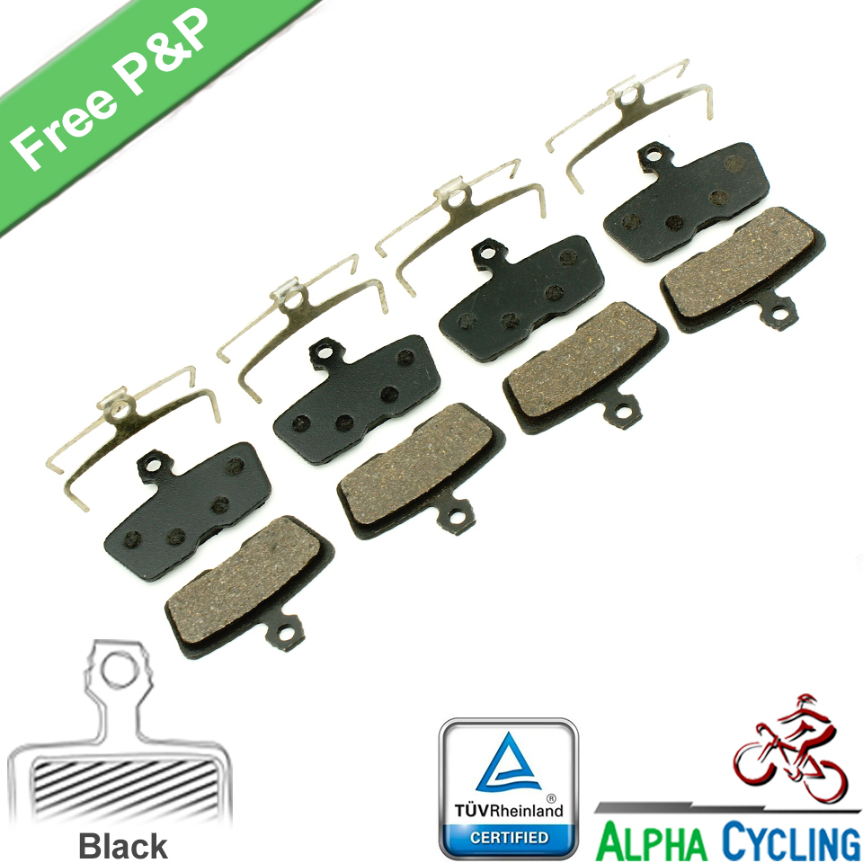 Bicycle Disc Brake Pads for AVID Code R or for SRAM CODE R (2011 to Now) Hydraulic Disc Brake, 4 Pairs, Resin Black Class