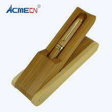 ACMECN New Arrival Office & School Writing Stationery Sets Eco-friendly Hand-made Bamboo Craft Ballpoint Pen and Gift box Kits