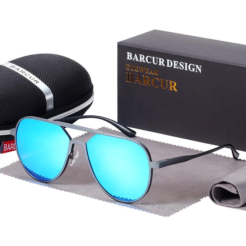 BARCUR  Oversize Aluminium Sunglasses Men Women Polarized Trending Styles Anti-Reflective BC8570