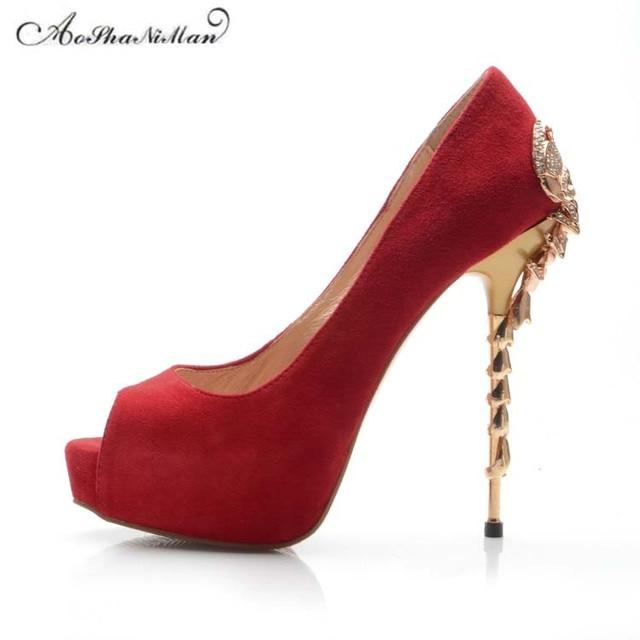 743b66fddc3 2019 más nuevo del cuero genuino de la boda de novia rojo zapatos de mujer  Zapatos