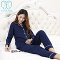 868# Quality Cotton Maternity Lounge Pajamas Clothes for Pregnant Women Nursing Tops + Belly Pants Breastfeeding Homewear Suits