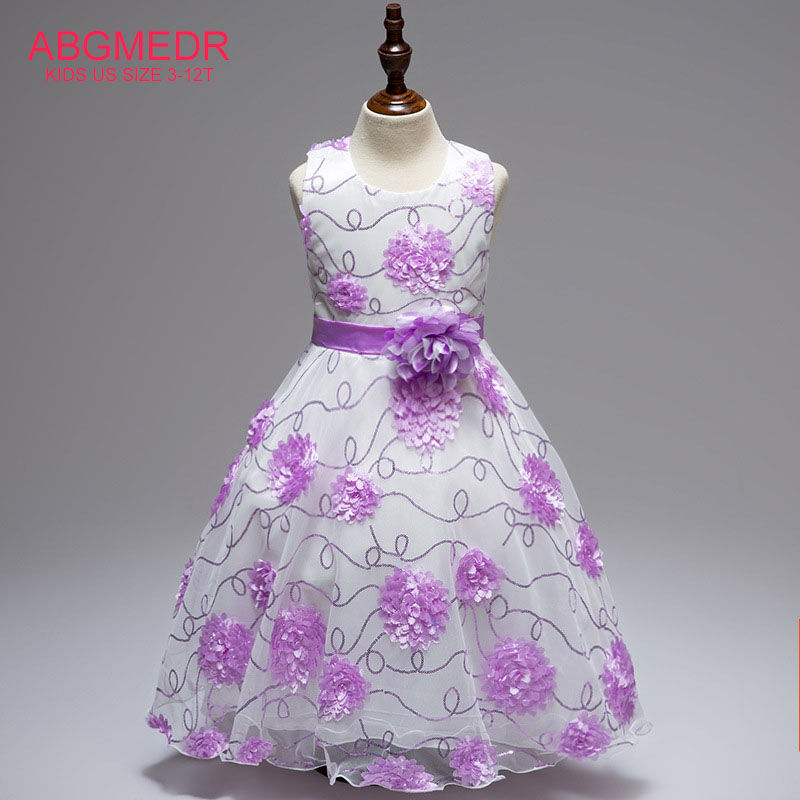 Teens Girls Dresses Kids Flower Dress Baby Girl Formal Dress for Party and Wedding Clothes Children Embroidered Sequins Dress summer kids girls lace princess dress toddler baby girl dresses for party and wedding flower children clothing age 10 formal