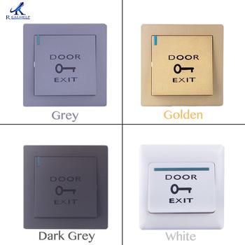 Cztery kolory do wyboru drzwi przycisk wyjścia przycisk otwierania drzwi kontroli przełącznik wyjścia jednego przycisku kryty przycisk wyjścia tanie i dobre opinie Fail bezpieczne Brak W Realhelp