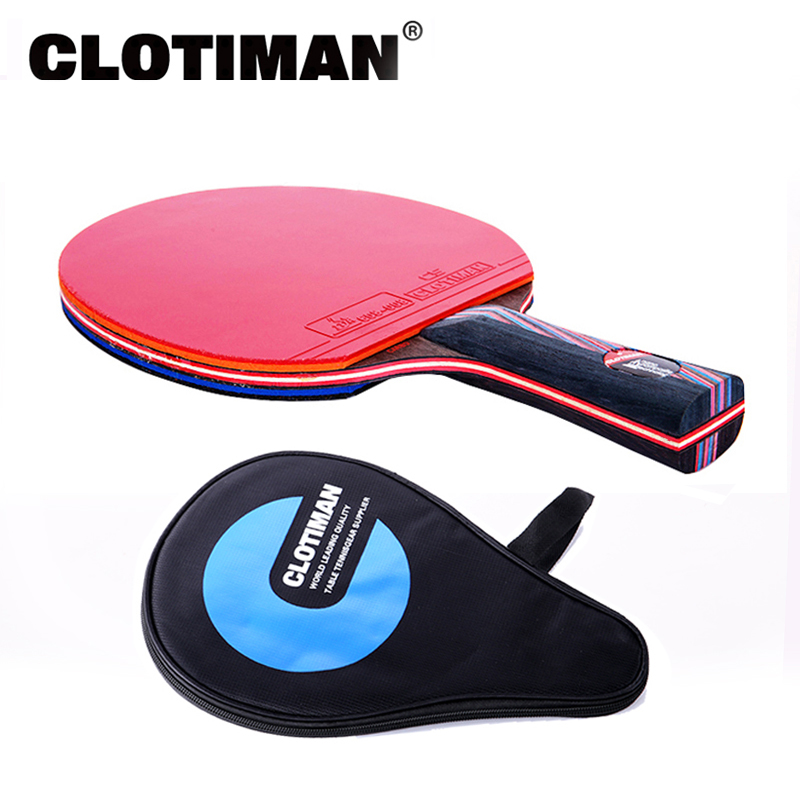 Carbon Fiber Table Tennis Racket 7 Layers Long Handle Short Handle  Horizontal Grip Tennis Table Paddle Blade Rubber