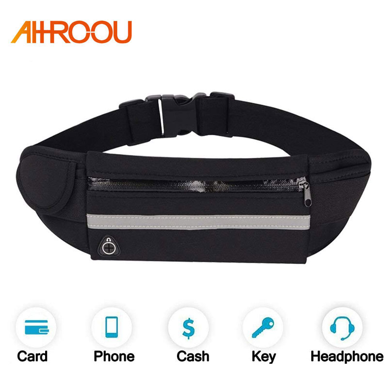 Universal 6 inch Waterproof Sport GYM Running Waist Belt Pack Phone Case Bag Armband for iPhone X 8 7 5 6 6s 7 8 Plus X Xs XR|Armbands| |  - title=