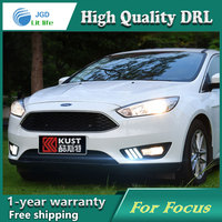 Car Styling Daytime Running Light DRL LED With Turning Signal Fog Lamp Decorative Accessories Case For