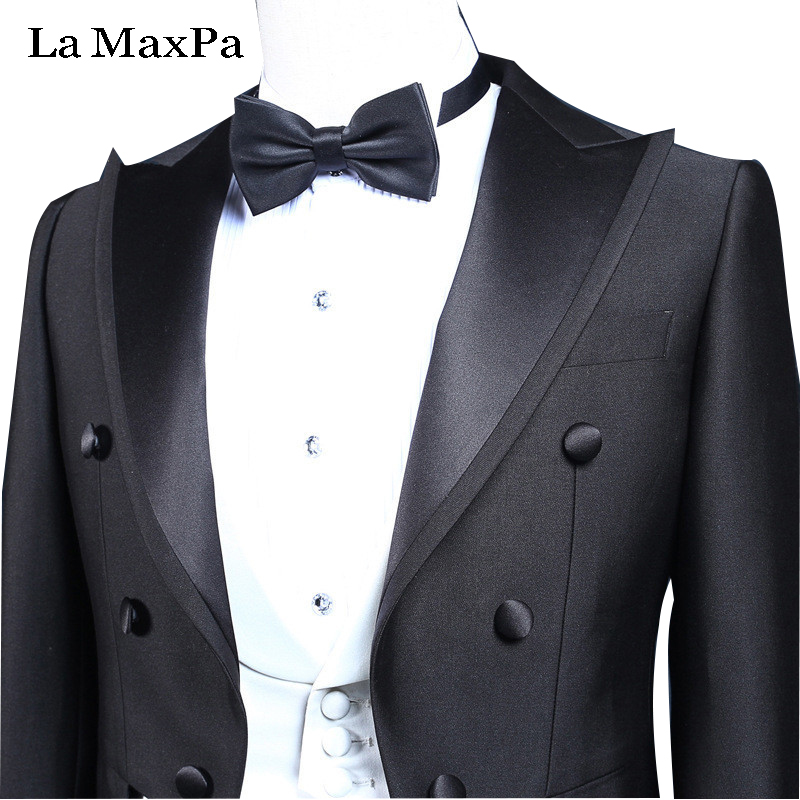 LA Maxpa tuxedo wedding suit for man slim fit groom male