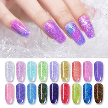 NICOLE DIARY 10ml Dipping System Powder Holographic Chameleon Professional Nail Art Decorations Colorful Shiny Manicure