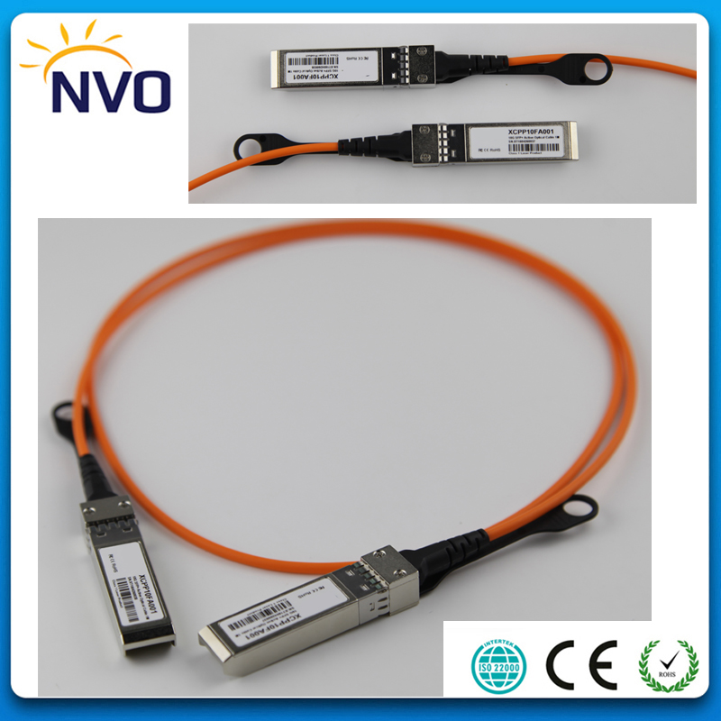 Free Shipping 10Gbps SFP+ 3M (9ft) OM2 AOC Active Optical Cable,Compatible 10G SFP+ (3M, 10G SFP+ To SFP+)