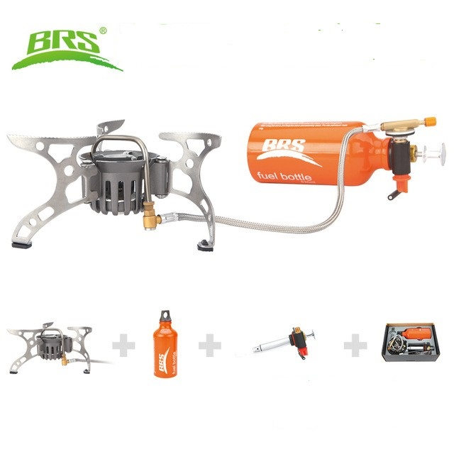 BRS-8 Portable Oil Gas Multi Fuel Stove Outdoor Picnic Backpacking Hiking Camping Gas Stove Gasoline Oven цена
